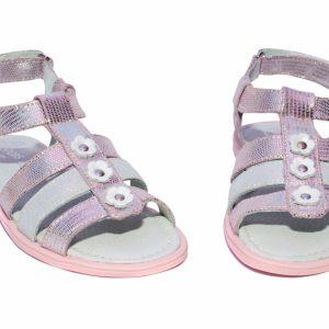 Sandale piele fete Gladiator Roz PJ Shoes, marimi 24-33