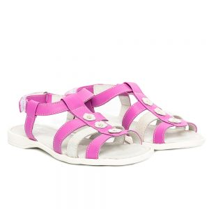 Sandale piele fete Gladiator Lila PJ Shoes, marimi 28-30