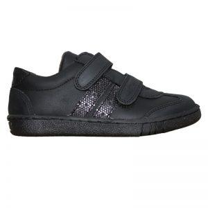 Pantofi sport copii negri din piele naturala, marimi 30-35