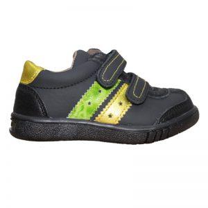 Pantofi sport copii negri din piele naturala, marimi 24-29
