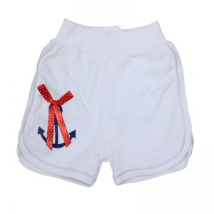 Pantaloni scurti sport fete alb, marime 3-9 luni