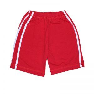 Pantaloni scurti sport rosii cu dungi albe , marime 18-24 luni
