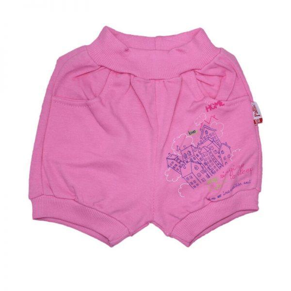 Pantaloni scurti sport fete roz, marime 6 luni-1 an