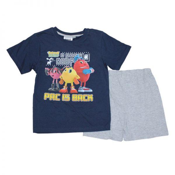 Compleu de vara baieti Pac-man Bleumarin/ Gri , varsta 3-8 ani