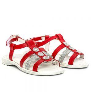 Sandale piele fete Gladiator Rosu PJ Shoes, marimi 27-33