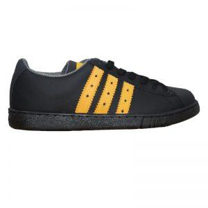Pantofi casual copii negri cu siret din piele naturala 36-39