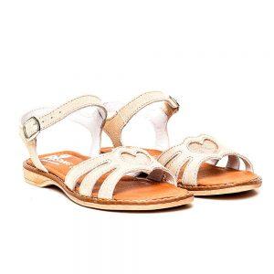 Sandale din piele pentru fete Core auriu PJ Shoes, marimi 27-36