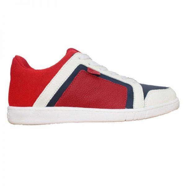 Pantofi casual copii rosu/bleumarin cu siret din piele naturala 36-39