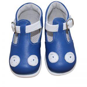 Pantofi casual pentru copii din piele naturala albastru TINO, marimi 20-23