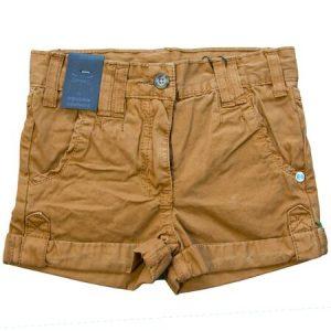 Pantaloni scurti casual fete maro, marime 3-6 ani