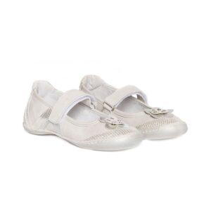 Balerini fete Nadia argintiu PJ Shoes, marimi 23/34/35