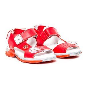 Sandale piele baieti Roy Rosu Pj Shoes, marimi 27-36