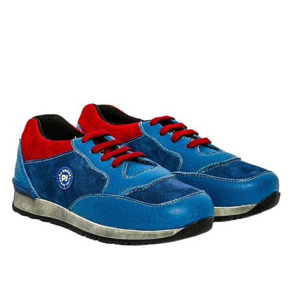 Tenisi pentru copii din piele Horia Blu Pj Shoes