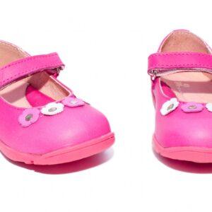 Balerini din piele  Candy Roz PJ Shoes, marimi 21-24