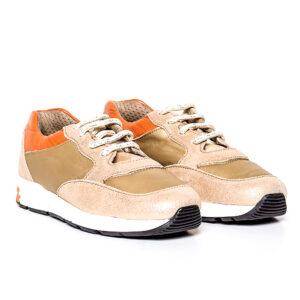 Tenisi pentru copii din piele Horia bej Pj Shoes