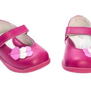 Balerini din piele  Candy Fuxia PJ Shoes, marimi 21-24