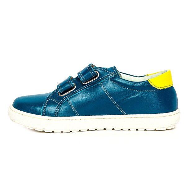 Pantofi copii sport pj shoes Skate turcoaz galben, marimi 27-36