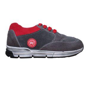 Tenisi pentru copii din piele Horia gri Pj Shoes