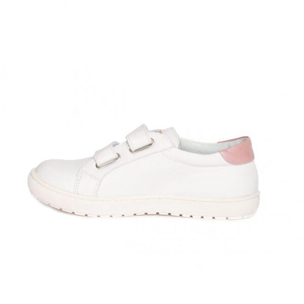 Tenisi copii, Skate, PJ Shoes, alb roz, marimi  35