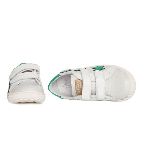 Tenisi copii, Skate, PJ Shoes, alb verde, marimi  27-36