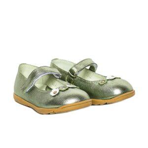 Balerini din piele  Candy Vernil PJ Shoes, marimi 20-26