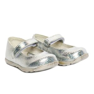 Balerini din piele  Candy Argintiu PJ Shoes, marimi 21-22