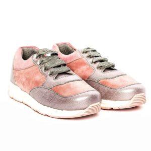 Tenisi pentru copii din piele Horia Roz Pj Shoes