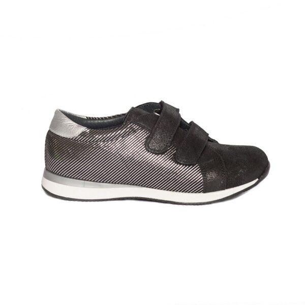 Tenisi copii, Skate, PJ Shoes, negru print, marimi  27