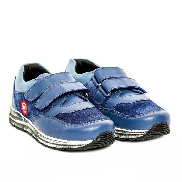Tenisi din piele pentru copii Horia PJ Shoes Albastru 1200