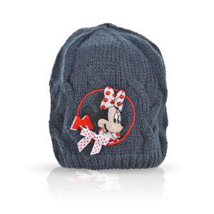 Fes tricotat Minnie Mouse, bleumarin, marimea 52-54