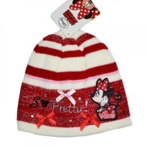 Fes Minnie Mouse, alb-rosu, marimea 52-54
