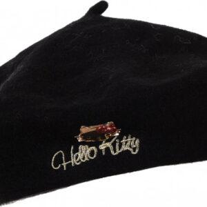 Bereta pentru adolescente Disney Hello Kitt , negru, One Size 15+ani